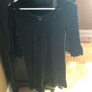 Moda international black lacy dress
